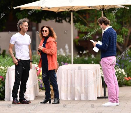 Alex Karp, CEO of Palantir Technologies, Diane von Furstenberg and John Elkann, CEO of Exor