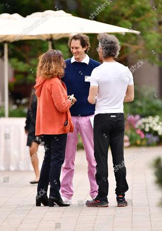 Diane von Furstenberg, John Elkann, CEO of Exor and Alex Karp, CEO of Palantir Technologies