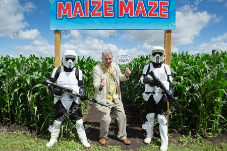 Tim Rose and Storm Troopers at the Skylark Star Wars Amazing Maize Maze