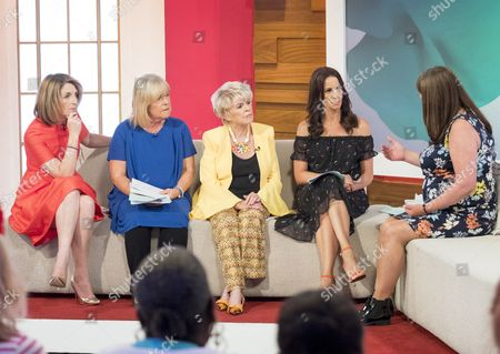 Kaye Adams, Linda Robson, Gloria Hunniford, Andrea McLean with Sara Payne