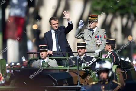 French President Emmanuel Macron and Chief of French Army General Pierre de Villiers