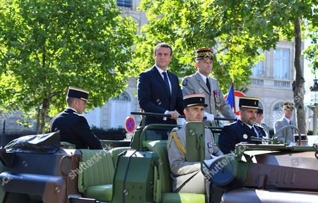 French President Emmanuel Macron and Chief of the Defence Staff, French Army General Pierre de Villiers