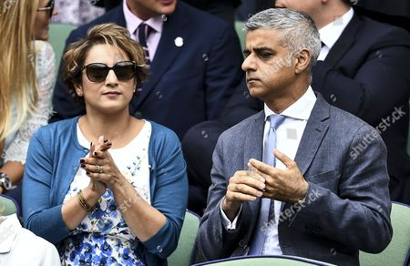 The Rt Hon Sadiq Khan and Mrs Saadiya in the royal box