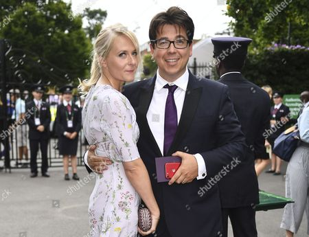 Michael McIntyre and Kitty McIntyre arrives on Day 13