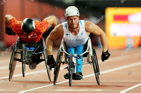 Leo Pekka Tahti of Finland wins gold in the Mens 100m T54.