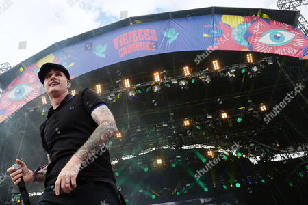 Singer Alexander Martin Barr of US band Dropkick Murphys performs live during Les Vieilles Charrues Festival in Carhaix, France, 14 July 2017. The music festival runs from 13 to 16 July.