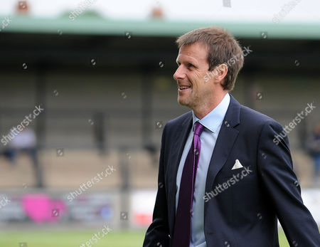 Stock Image of Salisbury FC manager Steve Claridge