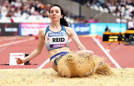 Stef Reid of Great Britain during the Womens Long Jump T44.