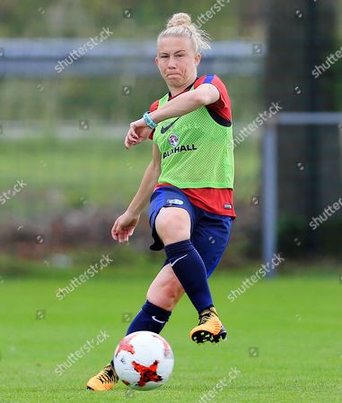 Laura Bassett of England during training