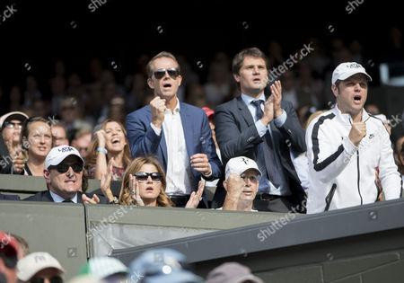 Mirka Federer and Stefan Edberg
