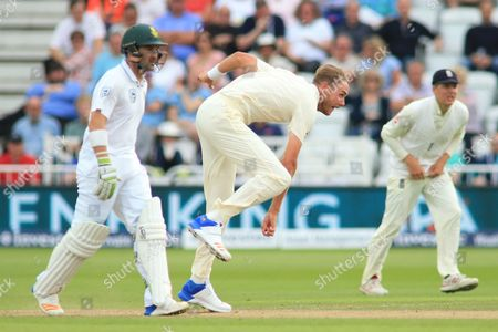 Chris Broad England bowling in 2nd innings during the International Test Series 2017 match between England and South Africa at Trent Bridge, West Bridgford