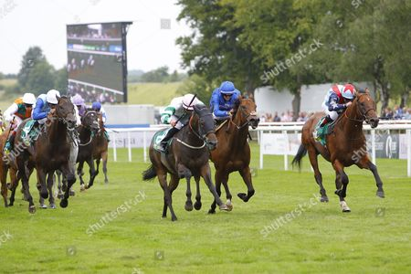 Above The Rest and Clifford Lee win the Bet365 Bunbury Cup Handicap at Newmarket from Sir Dancelot, Steady Pace and Tony Curtis.