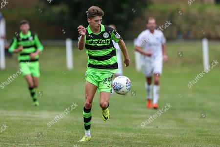 3e05d825a05ea6 Forest Green Rovers Olly Mehew(29) on the ball during the Pre-Season