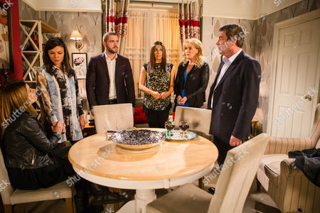 Ep 8810 Monday 4th January 2016 - 2nd EP Carla Connor, as played by Alison King, drops the bombshell that Johnny Connor, as played by Richard Hawley, is her Dad. Staring at Johnny in disbelief, Kate Connor, as played by Faye Brookes, and Aidan Connor, as played by Shayne Ward, are appalled to discover Johnny always suspected Carla was his daughter but kept it a secret for all these years. When Liz McDonald, as played by Beverley Callard, inadvertently lets slip that Johnny's wife died after she found out about his affair and stepped in front of a car, Kate and Aidan are horrified. As Johnny desperately tries to explain himself, will Kate and Aidan be able to forgive him?