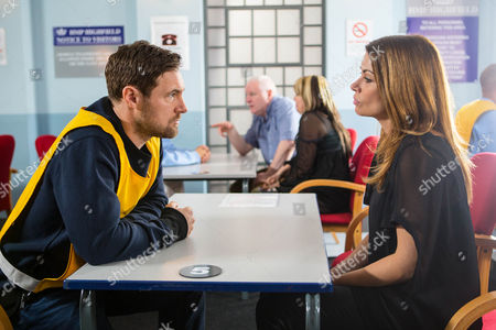 Visiting Rob Donovan, as played by Marc Baylis, in prison, Rob tells Carla Connor, as played by Alison King, that if Johnny doesn't pay up, he'll reveal the truth to Aidan and Kate. Pointing out it's not her problem, Carla leaves. (Ep 8809 - Mon 4th Jan 2016).