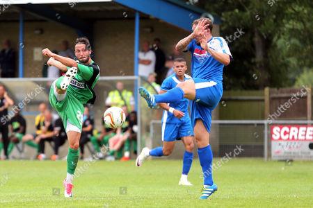 Nick Wheeler of Dagenham during Bedford Town vs Dagenham & Redbridge, Friendly Match Football at The Eyrie on 15th July 2017
