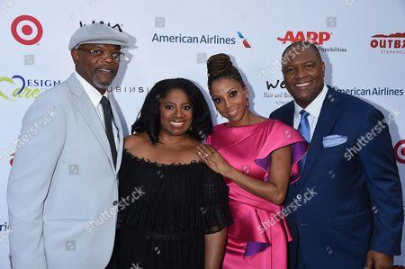 Samuel L. Jackson and LaTanya Richardson with Holly Robinson Peete & Rodney Peete