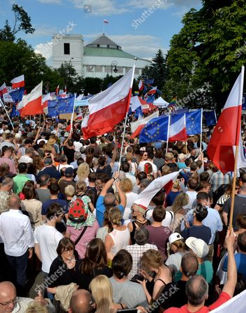 Editorial picture of Protest against the new judical law in Warsaw, Poland - 16 Jul 2017