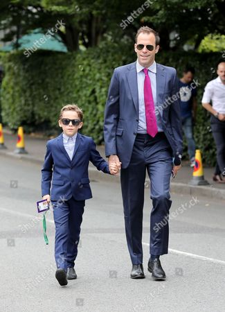 Greg Rusedski and son