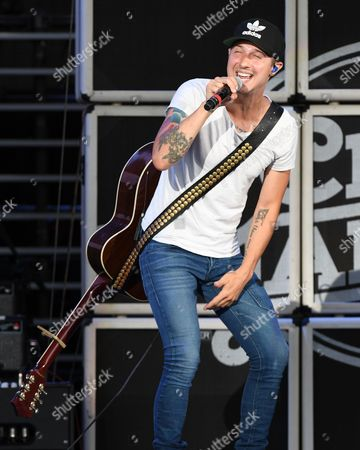 Editorial image of Ryan Follese in concert at The Perfect Vodka Amphitheatre, West Palm Beach, USA - 15 Jul 2017