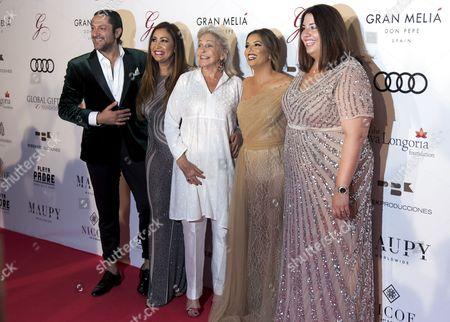 Rafael Amargo, Maria Bravo, Beatriz de Orleans and Eva Longoria
