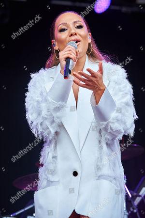 Singer Lauren Faith performs