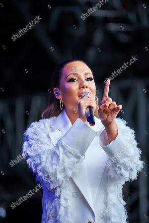 Stock Picture of Singer Lauren Faith performs