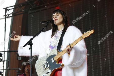 Editorial photo of Laleh Pourkarim in concert, Skansen, Stockholm - 15 Jul 2017