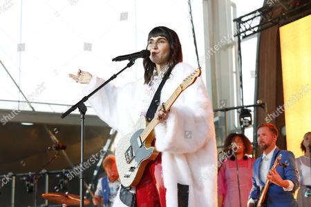 Editorial image of Laleh Pourkarim in concert, Skansen, Stockholm - 15 Jul 2017
