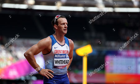 Great Britain's Richard Whitehead after winning the Men's 100m T42 heat