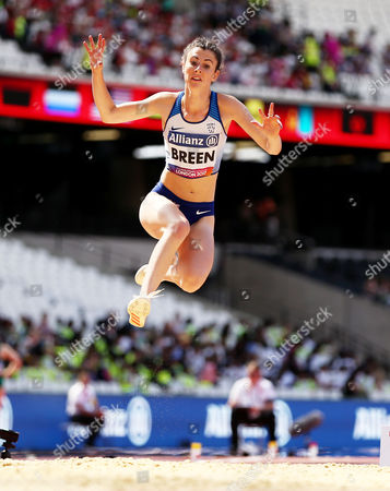 Olivia Breen of Great Britain during the Womens Long Jump T38.