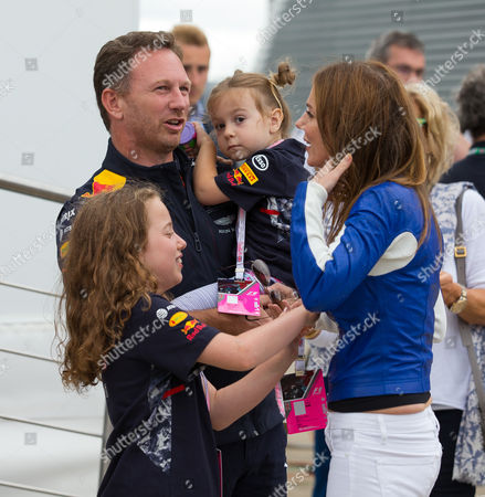 Christian Horner, Bluebell Halliwell and Geri Horner