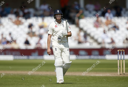 England's Jonathan Bairstow trudges off after his dismissal