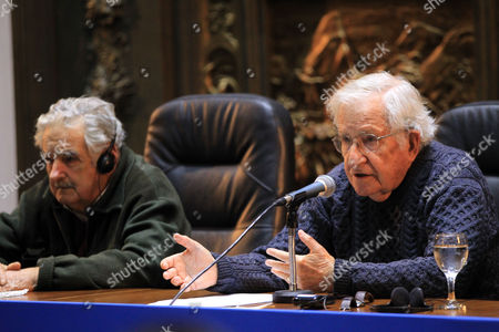 Editorial picture of Noam Chomsky conference on democracy in Uruguay, Montevideo - 17 Jul 2017