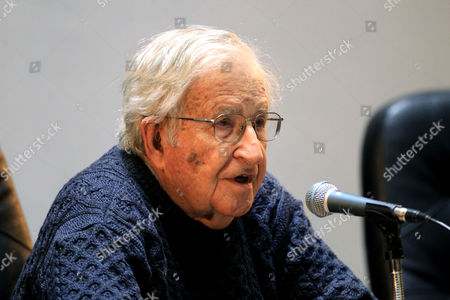 Editorial photo of Noam Chomsky conference on democracy in Uruguay, Montevideo - 17 Jul 2017