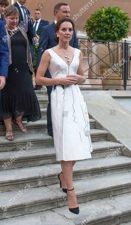 Catherine Duchess of Cambridge at the Queen's Birthday Garden Party at the Orangery, Warsaw