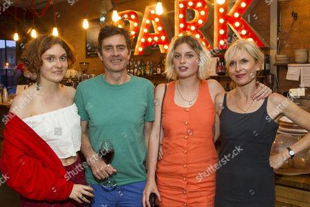 Mary Higgins, Paul Higgins (Barry/Basil), Flora Higgins and Amelia Bullmore