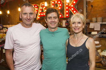 Stock Picture of Christopher Eccleston, Paul Higgins (Barry/Basil) and Amelia Bullmore