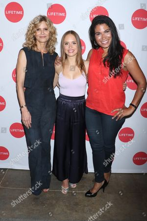 Kyra Sedgwick, Ryann Shane and Meghan Hooper White, SVP Original Co-Productions & Acquisitions for Lifetime and A+E Networks