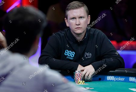 Ben Lamb competes during the World Series of Poker, in Las Vegas