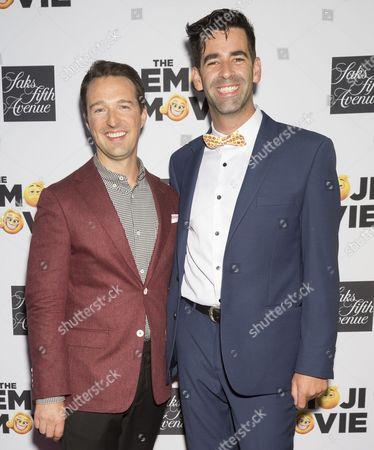 Stock Image of Sakes Fifth Avenue Director of Stores John Antonini (L) and Founder of World Emoji Day Jeremy Burge