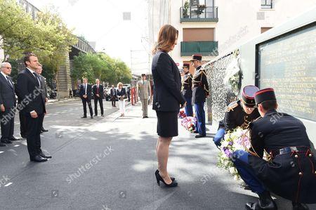 Emmanuel Macron and Aliza Bin Noun