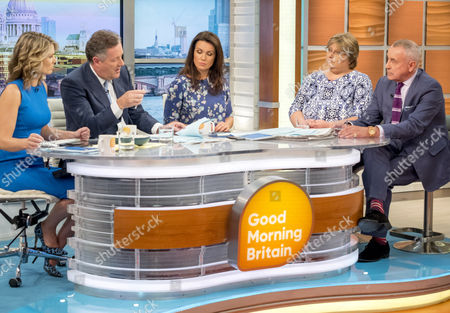Charlotte Hawkins, Piers Morgan and Susanna Reid with Sue Prior and Roy Lilley
