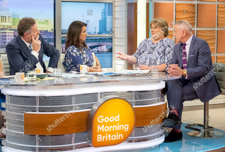 Piers Morgan and Susanna Reid with Sue Prior and Roy Lilley