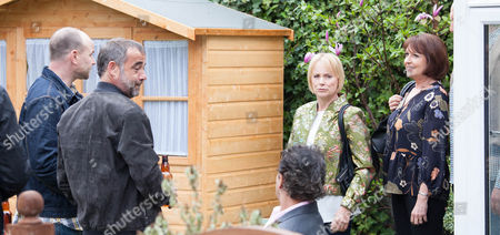 Ep 8927 Sunday 19 June 2016 Kevin Webster, as played by Michael LeVell, Dev Allahan, as played by Jimmi Harkishin, Freddie, as played by Derek Griffiths, and Ken Barlow, as played by William Roache, join Tim Metcalfe, as played by Joe Duttine, in the garden at No.8 for an impromptu beer party. Sally Metcalfe, as played by Sally Dynevor, returns home with fellow councillors Paul and Helena in tow. How will they react to find Tim and his mates getting drunk in the garden?
