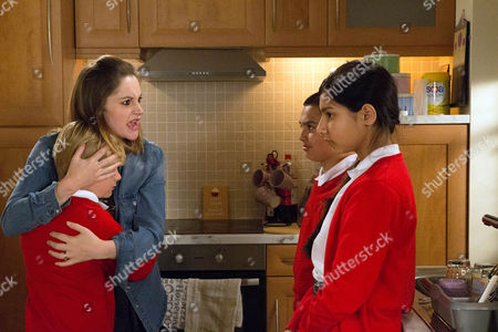 Ep 8944 Thursday 14 July 2016 With school closed for the day, Kylie agrees to have Asha Allahan, as played by Tanisha Gorey, and Aadi Allahan, as played by Zennon Ditchett. Asha locks Max Platt, as played by Harry McDermott, in the annexe causing him to freak out. Kylie Platt, as played by Paula Lane, flies at Asha, furious with her for traumatising Max.