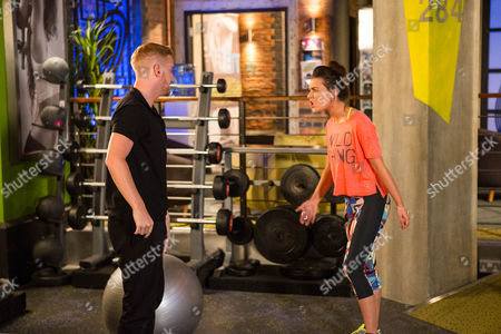 Ep 8977 Friday 26th August 2016 - 2nd Ep Lauren, as played by Shannon Flynn, tracks Bethany Platt, as played by Lucy Fallon, down to the gym and makes cruel jibes about her weight. Gary Windass, as played by Mikey North, watches as Lauren continues to taunt Bethany. Bethany finally snaps and punches Lauren. Bethany begs Gary not to tell Sarah about the bullying. Gary agrees on condition they report Lauren to the school.