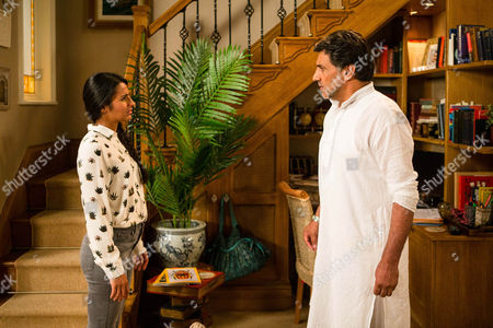 Ep 8997 Friday 23rd September 2016 - 2nd Ep A stunned Alya Nazir, as played by Sair Khan, works out that Sharif Nazir, as played by Marc Anwar, buying Sonia's silence by setting her up in a flat. Sharif admits it but insists he loves Yasmeen and begs Alya not to betray his secret. Will she agree to keep quiet?