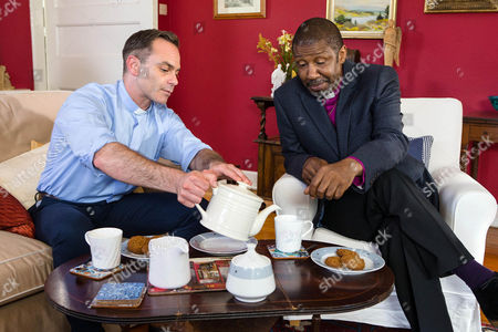 Ep 8990 Wednesday 14th September 2016 The Bishop's, as played by Brian Bovell, sympathetic as he informs Billy Mayhew, as played by Daniel Brocklebank, that since Todd's presence at the vicarage is causing disquiet among the congregation, he must leave. Billy rails at the injustice of being unable to have a proper love life within the church.