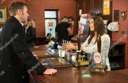 Ep 8547 Monday 5th January 2015 - 1st Ep Michelle Connor, as played by Kym Marsh, meets a new client, Hamish, as played by James Redmond, who asks her to organise his daughter's 21st party. When Hamish calls in the Rovers and asks Michelle out for a drink, Michelle declines. Eva thinks she's mad. Regretting her decision, will Michelle go after him?
